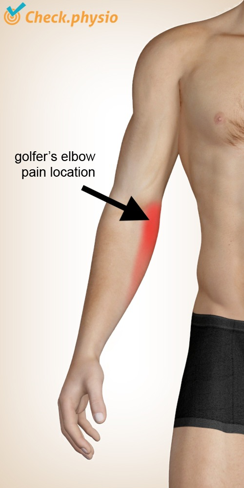 forearm golfer s elbow pain location